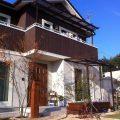 北欧風住宅にマッチした 自然な風合いの木調アルミテラス 岡山市S様