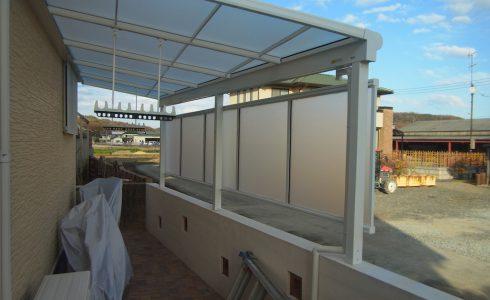 テラス設置で利便性向上 限られた空間利用を最大限に
