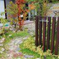 地元の山石・レンガで造る地産地消のアプローチ 備前市F様邸